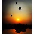 🇲🇲 ミャンマー、バガン 早起きして見に行った朝焼け🌅 日の出とともに気球がたくさん飛び立つの綺麗すぎて息するの忘れる