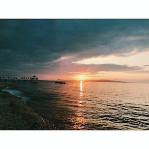 夕陽が沈む瞬間 @ふさぎリゾートヴィレッジ