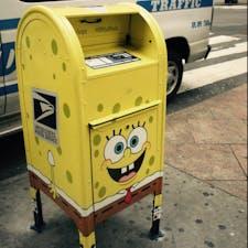 New York/Midtown Manhattan SpongeBob Mailbox  ニューヨークマンハッタンの街中で見かけたちょっと変わったポスト。  #newyork #newyorkcity #NewYorker#newyorknewyork #ニューヨーク旅行 #ilovenewyork #spongebob