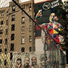 New York/SOHO STOP GUNS  ニューヨーク Eduardo Kobraの作品。 #kobra #streetartnyc #muralkobra #manhattan #newyork