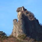 群馬で登山。獅子岩! ほんまに獅子にみえる! #群馬 #子持山 #獅子岩