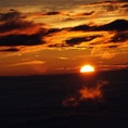 富士山山頂からのご来光だお 一緒にいた友達が一眼で撮った写真です