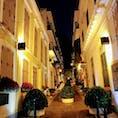 マカオ 夜の街並み
