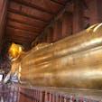 タイ:バンコク  涅槃像🙏1枚の写真に入りきらない大きさ👍