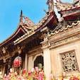 台北 龍山寺 何気に初めて台湾らしきスポットに来た。荘厳な雰囲気があって良かった。